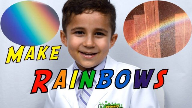 Make a Rainbow by Refraction Easy Kid Science Experiment you can do at home