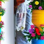 Recycle Plastic Bottles into Beautiful Flower Garden Tower | Tower Garden Flower Pots//GREEN PLANTS