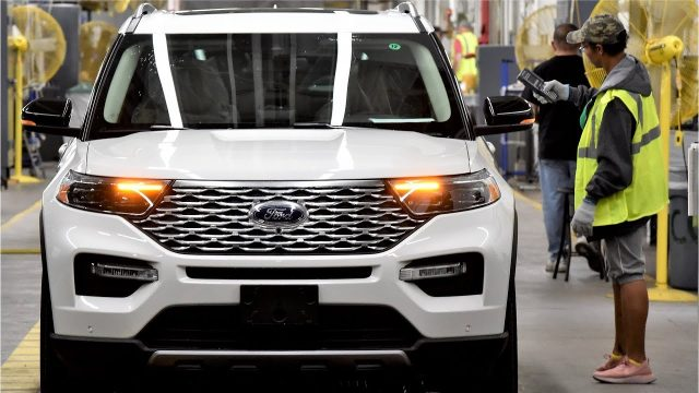 2020 Ford Explorer Production At Chicago Assembly Plant