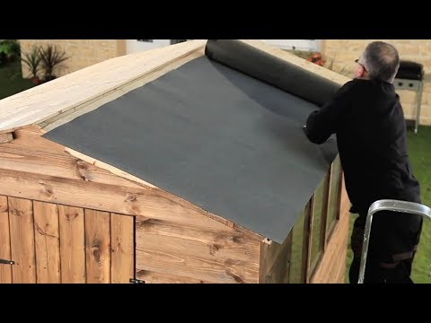 How To Felt A Shed Roof + Refelting A Shed Roof | Garden Ideas & Tips | Homebase