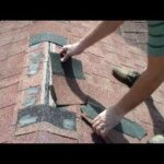 Small Asphalt Shingles Ridge Cap Roofing Repair – Terminating Ridge Shingles