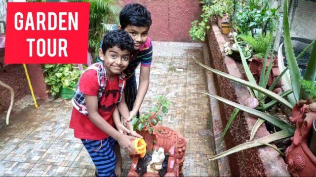 Garden Tour in Tamil | Garden Decoration | Engaging Kids for Gardening | Arthi Balaji