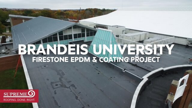 Supreme Roofing Completes Brandeis University Athletics Center Project