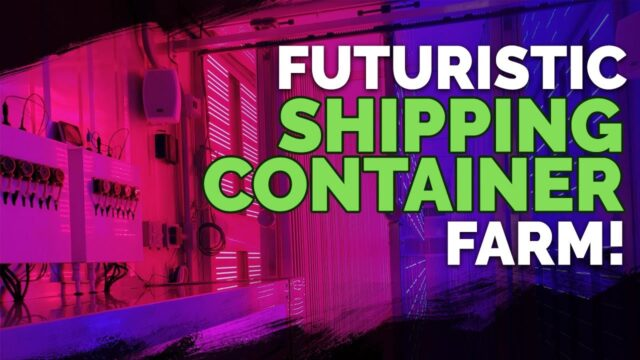 Futuristic Shipping Container Farm!