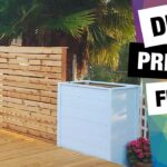 DIY Privacy Fence with Planter Boxes | How to build Deck Wall | Raised Garden Bed