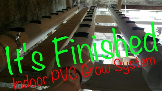 Indoor PVC Hydroponic NFT / DFT Grow System. DIY Food Production for a Small Space