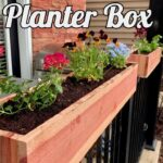 How to Make DIY Garden Railing Planter Box with LIMITED TOOLS