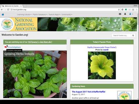 Garden.org Tutorial on using our Knowledgebase