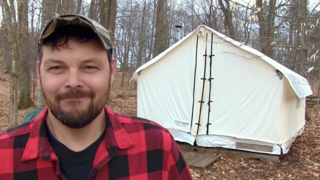 Living in a Wall Tent ,   Off Grid Homesteading in 2020