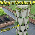 Adding Vertical Planting Space to the Garden.  Greenstalk vertical planter.