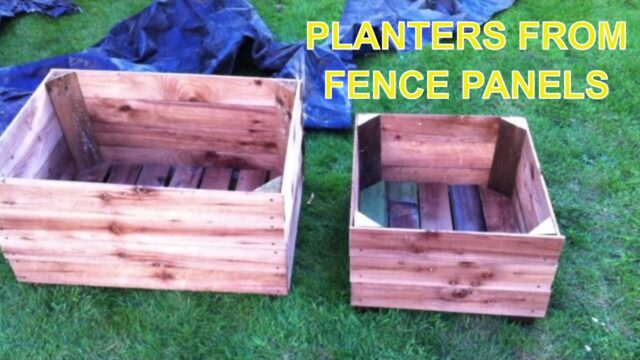 Garden planter boxes from old fence panels