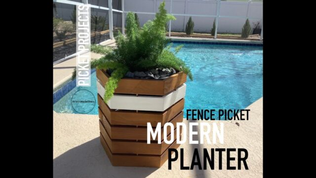 Picket Projects – Modern Planter w/ Fence Pickets ONLY $6!!!
