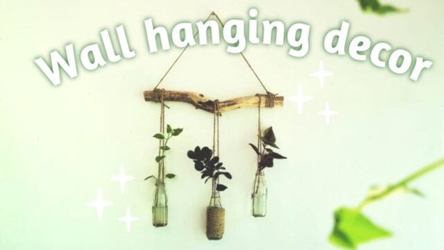 Wall hanging decor diy | balcony garden idea | indoor plants hanging idea | DIY Malayalam crafts