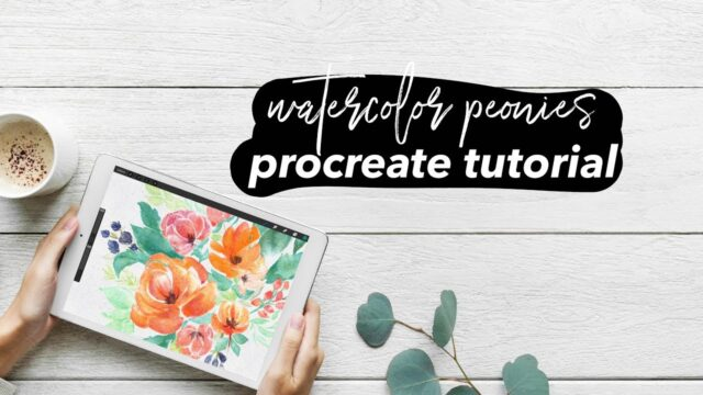 HOW TO PAINT WATERCOLOR PEONIES in PROCREATE – IPAD PRO TUTORIAL