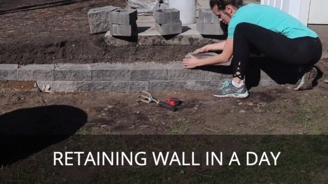 How to Build a Small Retaining Wall in One Day by Yourself | Cheap Basic Retaining Wall