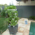 Easiest Home Hydroponic Vertical Garden Kit Runs on Solar Power