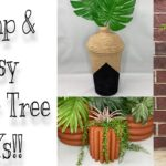 Modern Farmhouse Dollar Tree DIY Faux Terra Cotta Planter Herb Garden Wall Hanger Rope Boho Vase