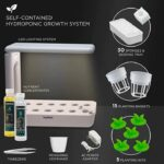 Ivation Herb Indoor Garden Kit  Complete Hydroponic Grow System for Herbs, Plants & Vegetables…