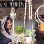 DIY 5 Hanging Planters | അടിപൊളി ഹാങ്ങിങ് പ്ലാന്റേഴ്സ് ഉണ്ടാക്കാം  | Home Decor using Indoor plants