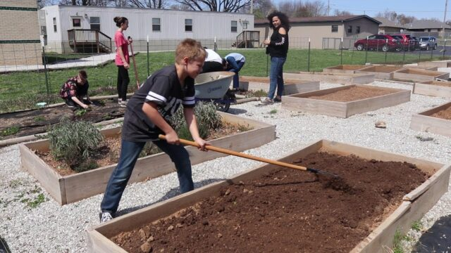 JTSD students learn how to garden