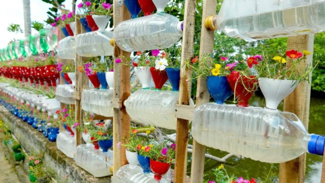 Amazing Plastic Bottle Vertical Garden Ideas, DIY Vertical Gardening | T&V Home Garden