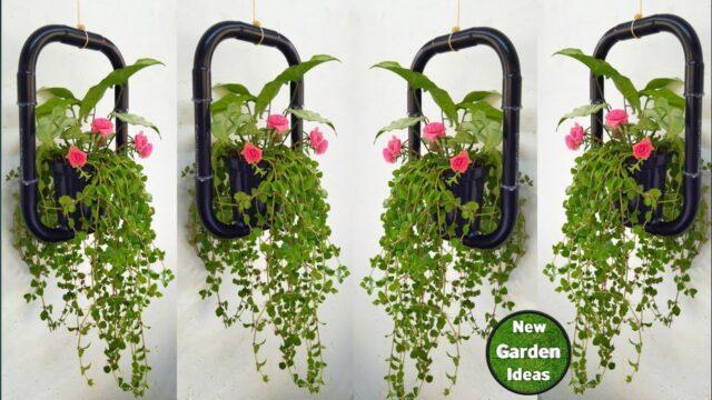 how to Make hanging pots//hanging plant pots//vertical garden pots