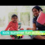 Kids summer fun activity   Toddler activity   Kids activity   gardening   telugu video