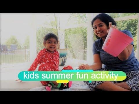 Kids summer fun activity | Toddler activity | Kids activity | gardening | telugu video