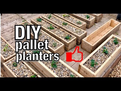 Making Pallet Planters with left over pallets (DIY)