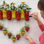 Awesome Garden Design Ideas – How to make wall plants pots from plastic bottles
