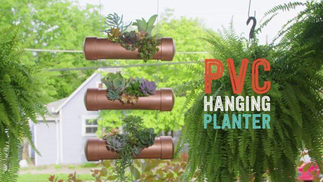 DIY PVC Hanging Planter – Way to Grow – HGTV