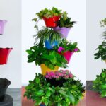 Vertical Gardening Idea for Turning a Small Space into Beautiful Garden | Garden Tower//GREEN PLANTS