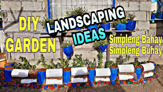 DIY Garden / Landscaping Ideas For Home and School Garden