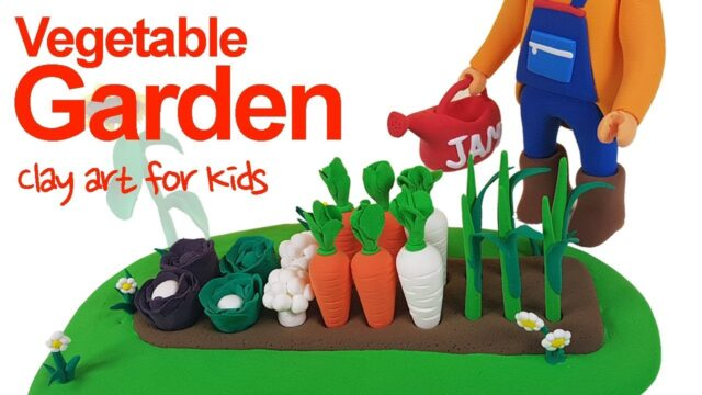 Clay Vegetable Garden For Kids | How To Make A Clay Vegetable Garden | Clay modeling