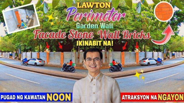 FACADE Stone Wall Bricks IKINABIT NA! Lawton Perimeter Wall Garden Update