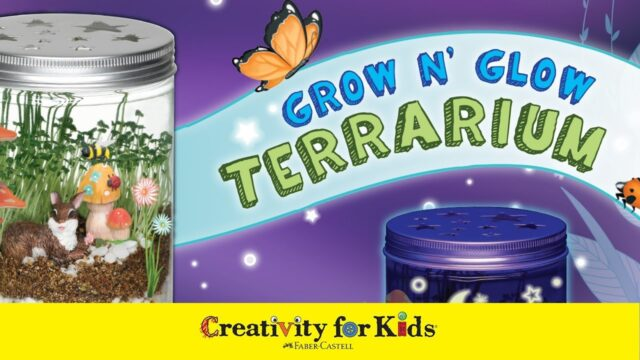 Grow N' Glow Terrarium | Science Kit for Kids | Easy Indoor Plant | Creativity for Kids