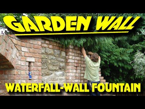 GARDEN WALL WATERFALL / WALL FOUNTAIN BUILD / Start to Finish