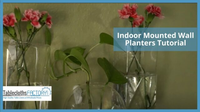 Indoor Mounted Wall Planters Tutorial | DIY Home Décor | Tableclothsfactory.com