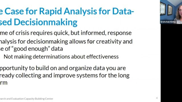 Conducting Rapid Analyses for Data-Based Decisionmaking during the COVID-19 Crisis