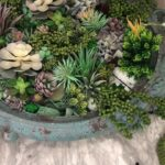 Faux Succulent Wall Planter
