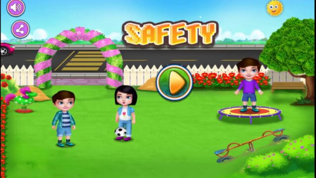 Child Safety At Garden And Playground – Kids Learn Safety| Best Game For Kids