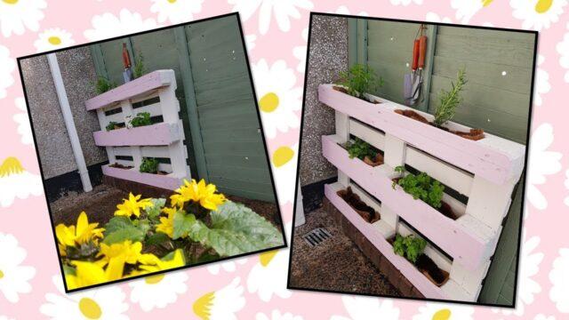DIY Herb Garden With A Pallet!