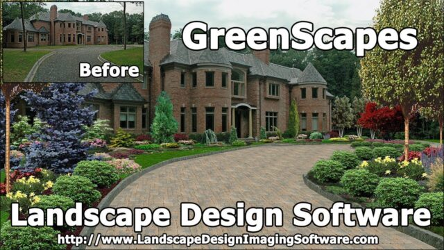 "Landscape Design Imaging Software ""GreenScapes"" EASY TO USE!"