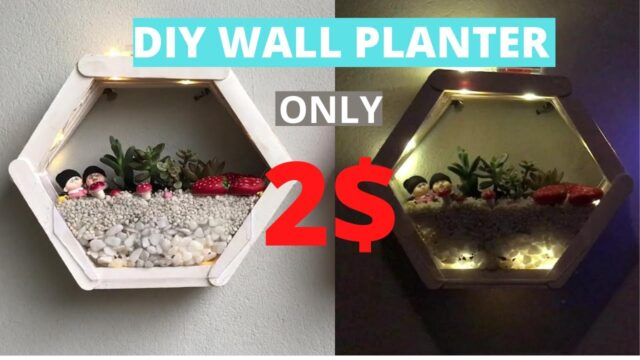 Greatest & Cheapest Ideas To DIY Wall Planter Indoor | DIY Planter Wall Block | 2$ DIY Room Decor