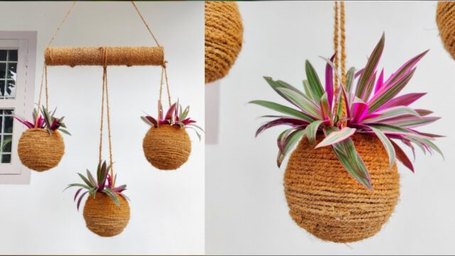 How to make an amazing hanging pots | Hanging decorations ideas | Hanging planters | gardening ideas