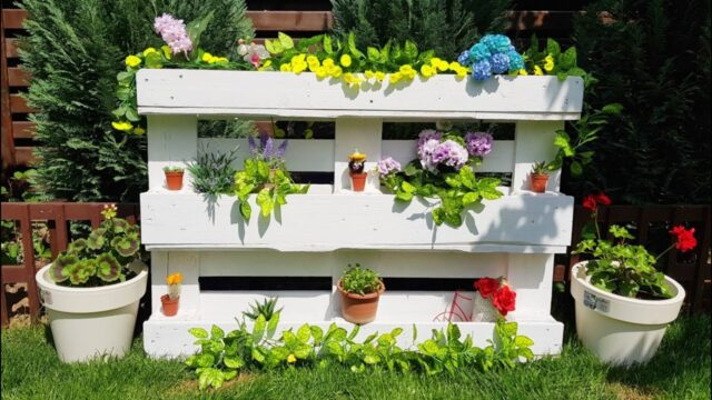 How to Make DIY Pallet Planter Recycled Creative Design Idea 2020