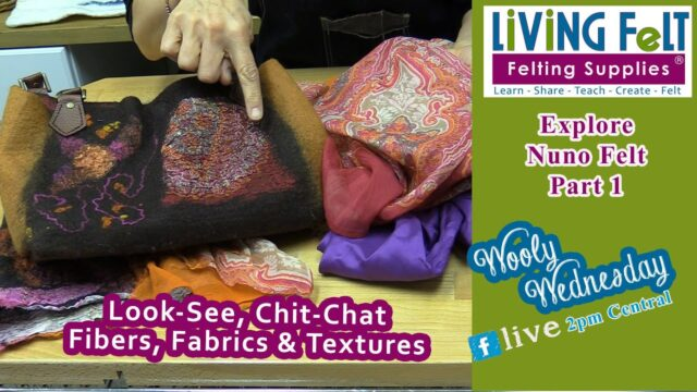 WOOLY WEDNESDAY 04 17 2019 INTRO TO NUNO FELT  Look See, Chit Chat, Plan