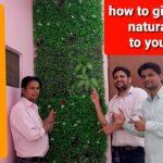 Artificial vertical garden installation , How to fix green vertical garden panels