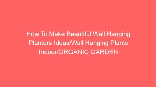 How To Make Beautiful Wall Hanging Planters Ideas/Wall Hanging Plants Indoor/ORGANIC GARDEN