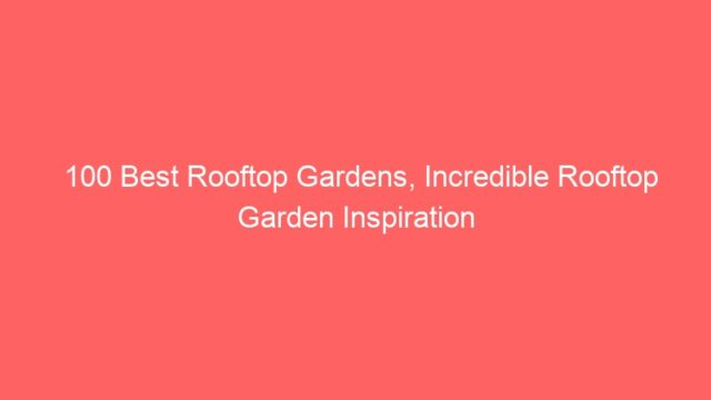 100 Best Rooftop Gardens, Incredible Rooftop Garden Inspiration